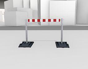 3D model Construction Barrier Version 3 600-31 100x1200mm