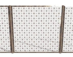 Low Poly Modular Fence 12 3D asset