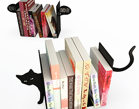 3D Books end Cat and Bubble