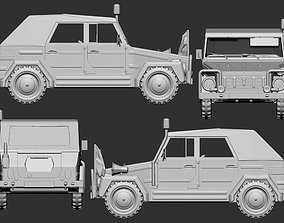 3D print model 1 to 56 VW 181 Bundeswehr Jeep second 3