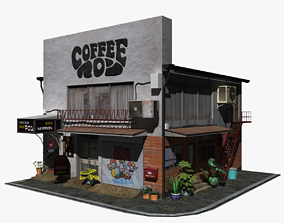 3D asset Marron Coffee Shop