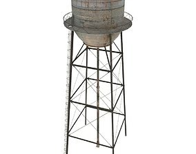3D model game-ready Water Tower