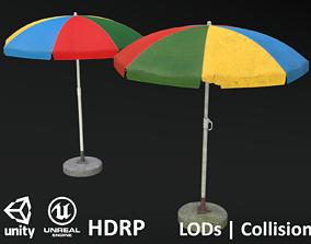 Garden Umbrella V1 - Clean and Dirty 3D model