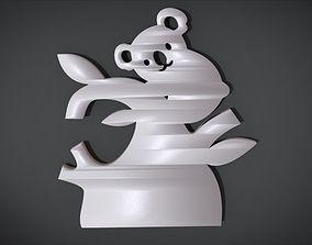 3D printable model Wall decoration with Koala motif