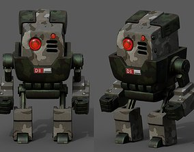 3D asset Robot cyborg scifi space machine fantasy Cartoon