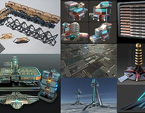 3D sci-fi collection