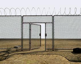 Abandoned perimeter 3D asset