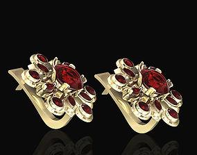 3D print model sterling flower spinner earrings
