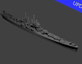 US Worcester Class Cruiser 3D printable model