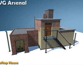 3D model Rooftop house - HQ