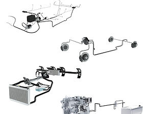 X-ray Car Parts 4 in 1 3D