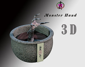 3D asset Monster Pot