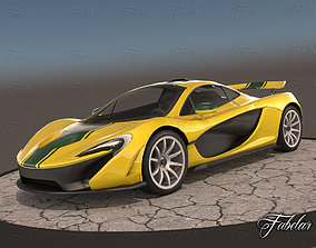 3D model rigged McLaren P1