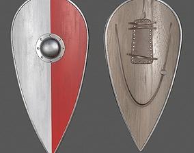 metal shield 3D model low-poly