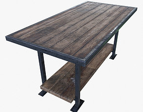 3D asset Work Table Worktable Game Ready PBR Textures