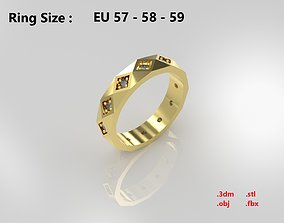 Model 53 Facet Diamond Ring 2 EU rings