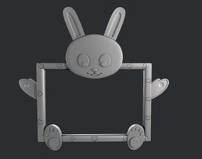 3D printing and CNC photo frame for children bunny