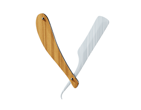 barber knife 3D