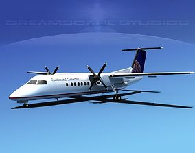 DeHavilland DHC-8-Q300 Continental 3D