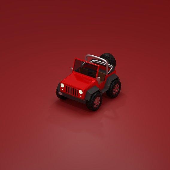 Low Poly Jeep Wrangler