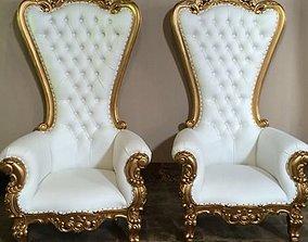 3d Absolom Roche Arm Chair 3D - Throne arm chair