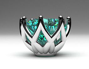 3D printable model Engagement ring head set for single 2