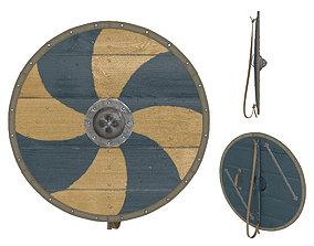 3D model Viking Round Shield 3