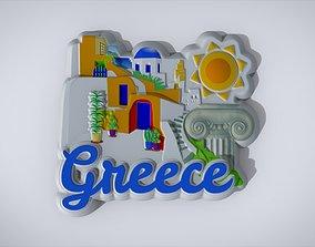 figurines Greek Souvenir Fridge Magnet 3D printable model