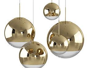 Mirror Ball Gold Pendant Light by Tom Dixon 3D