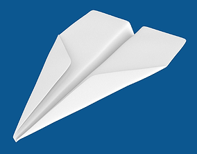 3D model Paper airplane object