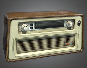 3D model Old Radio Antiques - ATQ - PBR Game Ready