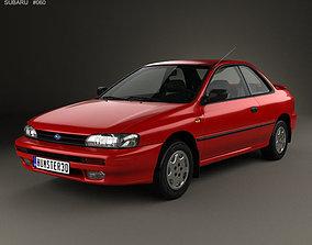 Subaru Impreza Coupe with HQ interior 1995 3D
