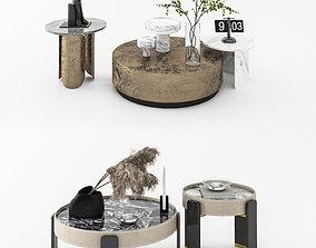 Modern tea table combination houseware 3D