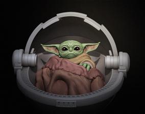 child Baby Yoda Mandalorian 3D Model - 3D Print