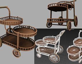 3D model trolley tray tableware