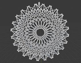 3D print model Crescent Pendant Pattern Moon Collection 5