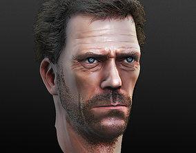 3D Hugh Laurie Bust