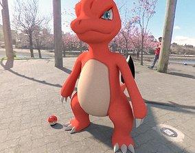 vray Pokemon Charmeleon 3D asset