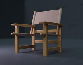 Fredericia Canvas Chair VAR 01 3D asset