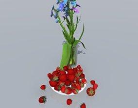freshness 3D strawberries