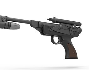 3D model Blaster pistol DL-18 from Star Wars Return Of 1
