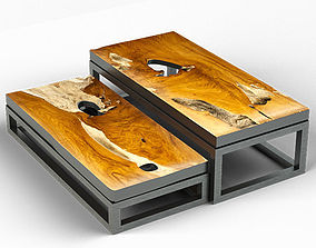3D Teak Coffee Tables 2 mediterranean