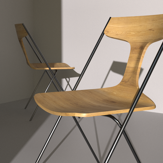Viccarbe - QUADRA - Stackable chair