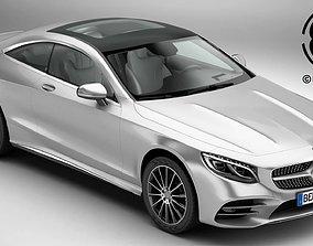Mercedes S Class Coupe AMG Line 2018 3D