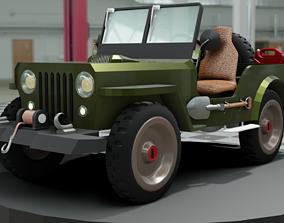 Jeep 1950 Model - M38 Pubg Jeep 3D transportation