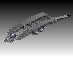 3D model trailer for car trasnporting