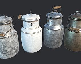 Old Rusty Milk Jugs 3D model