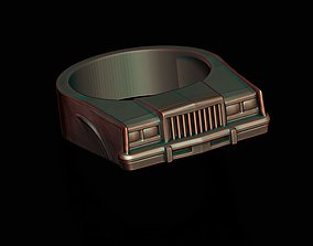 classic car ring 40 3D print model