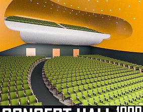 3D asset Concert Hall Interior 02