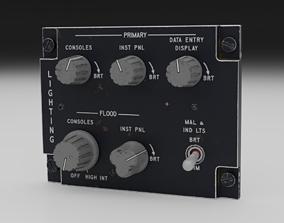 3D model rigged F16 LIGHTNING Panel